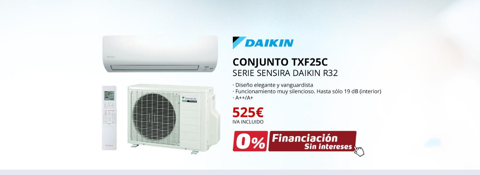 AIRE ACONDICIONADO DAIKIN TXF25C - SERIE SENSIRA DAIKIN R32