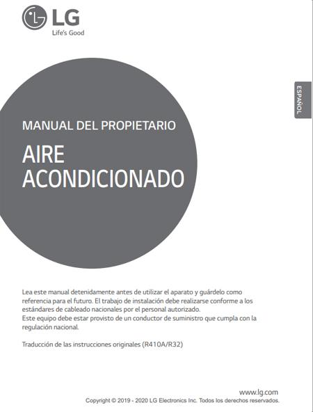 Manual usuario Aire Acondicionado Casette LG