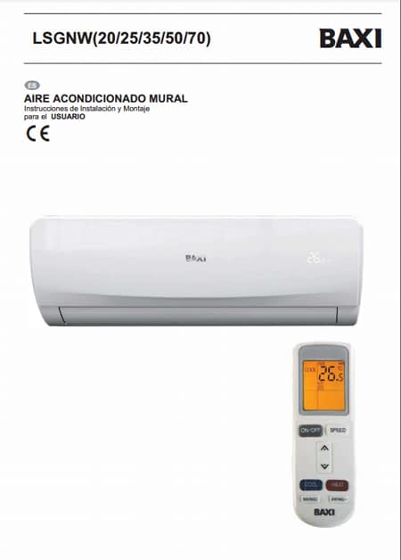 Manual usuario Aire Acondicionado Split BAXI