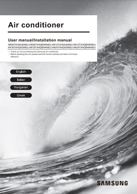 Manual usuario Aire Acondicionado Split Samsung