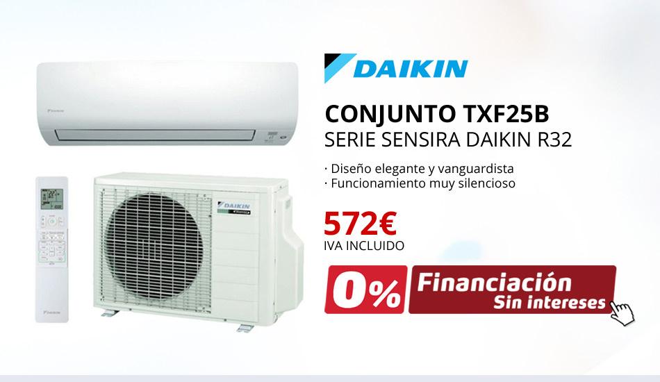 AIRE ACONDICIONADO CONJUNTO TXF25B - SERIE SENSIRA DAIKIN R32